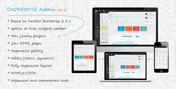 Infinite - Reponsive Admin Template AdminTemplates