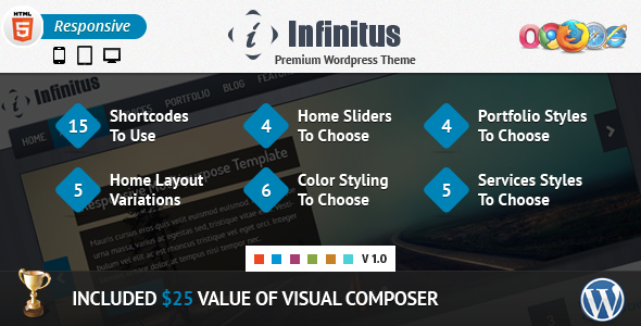 Infinitus : Responsive Business Wordpress Theme Corporate