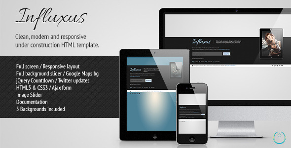 Influxus - Responsive Under Construction Template Specialty Page