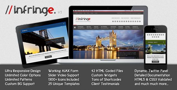 Infringe - Responsive Business & Corporate Website Template