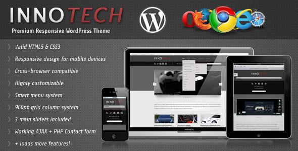 InnoTech - Premium Responsive WordPress Theme Corporate