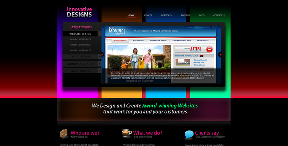 Innovative Designs Creative PSDTemplates