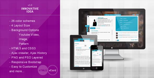Innovative Idea – Personal vCard HTML5 Theme Template Personal