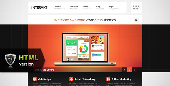 Interakt Agency - Responsive HTML Theme Template Corporate