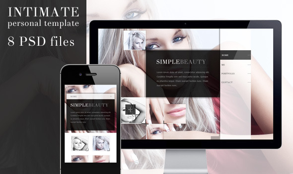 Intimate - Multipurpose PSD Theme Personal