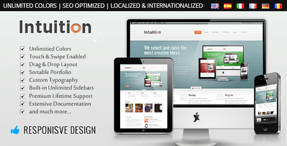 Intuition - Responsive Business WordPress Theme Corporate