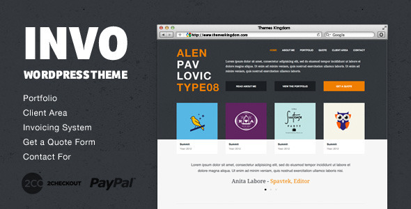 Invo - WP Business theme with invoice system WordPress Creative