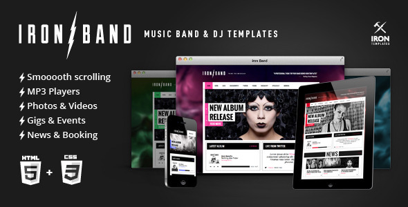 IronBand - Music Band & DJ template Entertainment