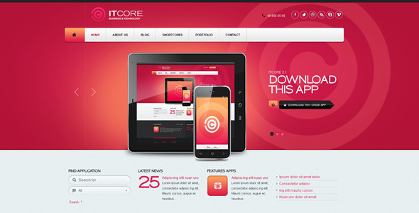ItCore Site Template Corporate