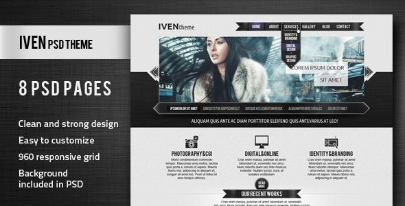 Iven PSD Theme Creative