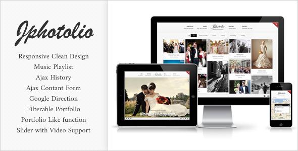 JPhotolio: Responsive Wedding Photography Template Creative