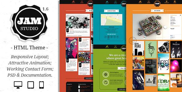 Jam Studio - Responsive HTML5 Template Creative