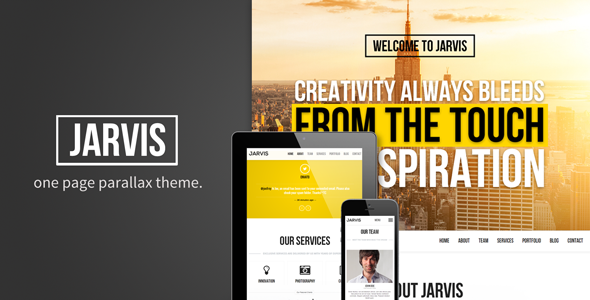 Jarvis - Onepage Parallax Theme Template Creative