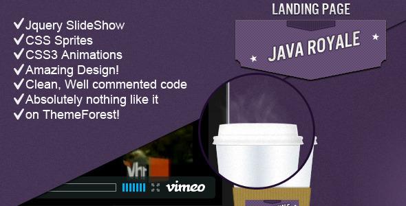 Java Royale - Professional Landing Page LandingPages Landing Page