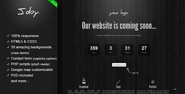 Jday - Coming  Soon page Template Specialty Page