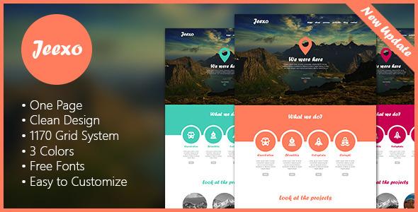 Jeexo - Single Page PSD Template Creative