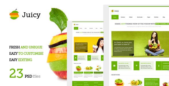 Juicy - Multipurpose PSD Template Corporate