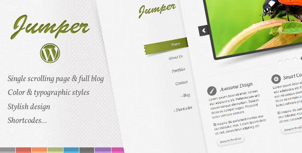 Jumper WP - one page theme WordPress Creative