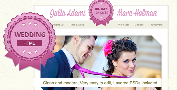 Justwedding - Wedding site template Entertainment