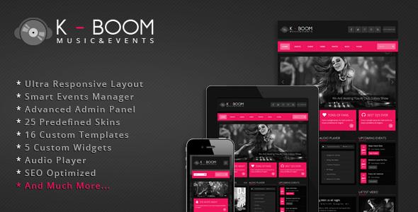 K-BOOM - Events & Music Responsive WordPress Theme Entertainment