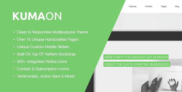KUMAON, Clean Responsive Multipurpose Theme Template Corporate