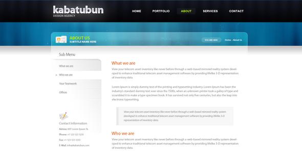 Kabatubun Business Template Corporate PSDTemplates