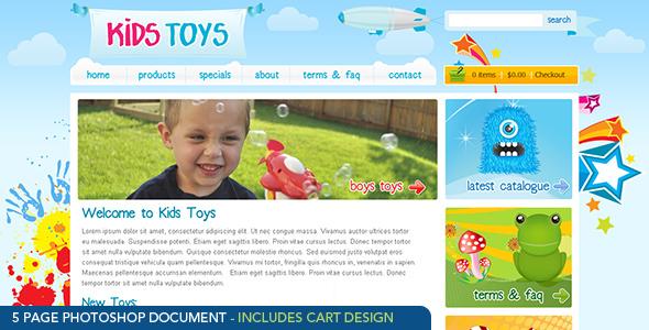 Kids Toys Retail PSDTemplates