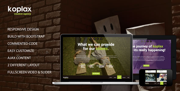 Koplax - Responsive Portfolio HTML5 Template Creative