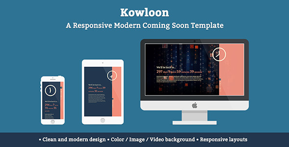 Kowloon - A Responsive Modern Coming Soon Template Specialty Page
