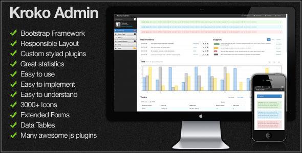 Kroko Admin - Responsive Template AdminTemplates
