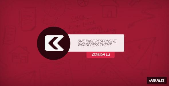 Kronos - One Page Responsive Wordpress Theme Creative