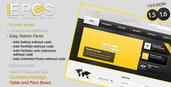 L-Epos Clean Joomla 1.5 Theme Corporate