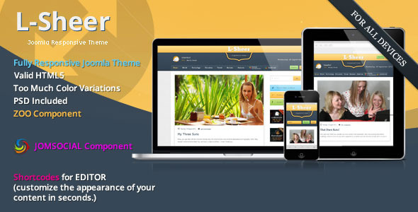 L-sheer - News & Magazine - JomSocial Joomla Template Blog/Magazine