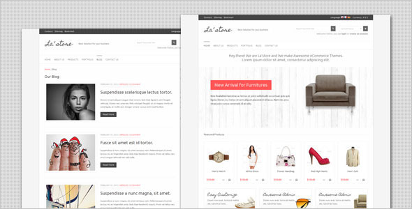 LA Store - Clean and Minimalist HTML Template Retail