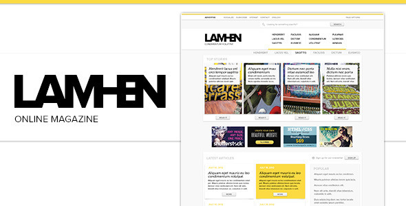 LAMHEN Online Magazine PSD Miscellaneous