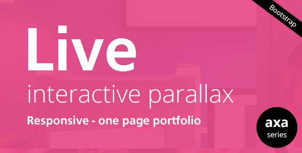 LIVE - Interactive Parallax - Responsive HTML5 Template