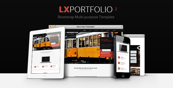 LXPortfolio 2 - Responsive Multi-Purpose Template Creative