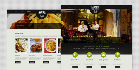 LaMonte - Modern Restaurant HTML Template Entertainment