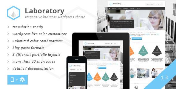 Laboratory Business Theme WordPress Corporate