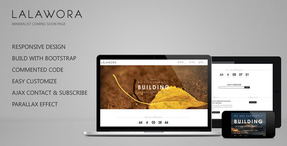 Lalawora - Responsive Coming Soon Page Template Specialty Page