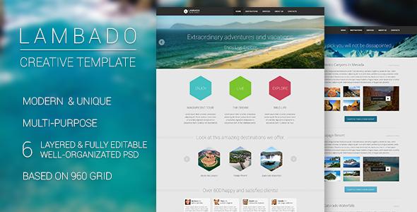 Lambado - Creative Template PSD Retail