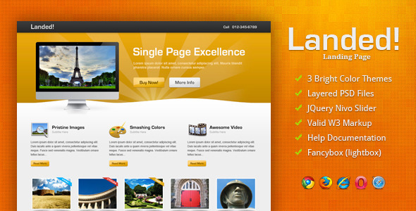 Landed! LandingPages Landing Page