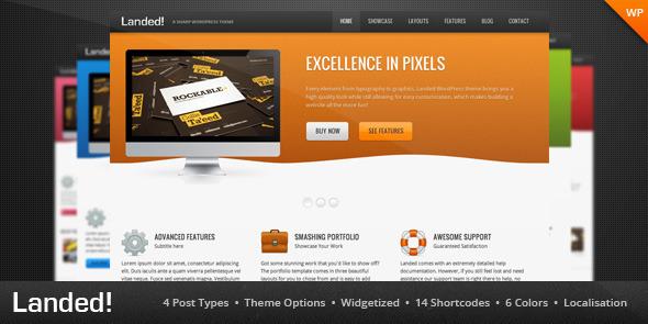 Landed - A Sharp WordPress Theme Creative