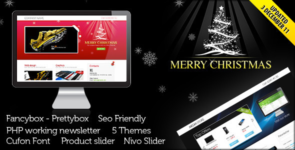 Landing Page for Christmas Offer or Portfolio LandingPages Landing Page
