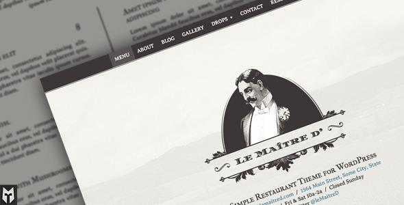 Le Maitre d': Super Simple Restaurant WP Theme WordPress