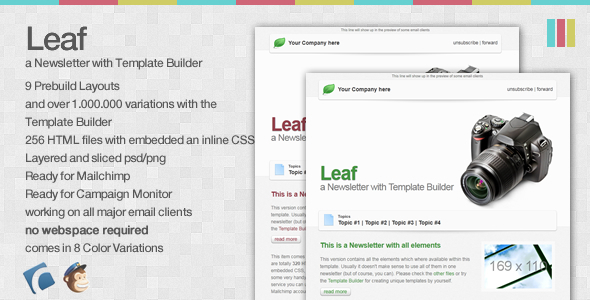 Leaf - a Newsletter with Template Builder EmailTemplates Email Template