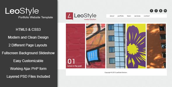 Leo - HTML5 Portfolio Website Template Creative