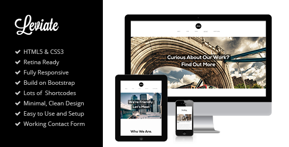 Leviate - HTML5 One Page Parallax Template Creative