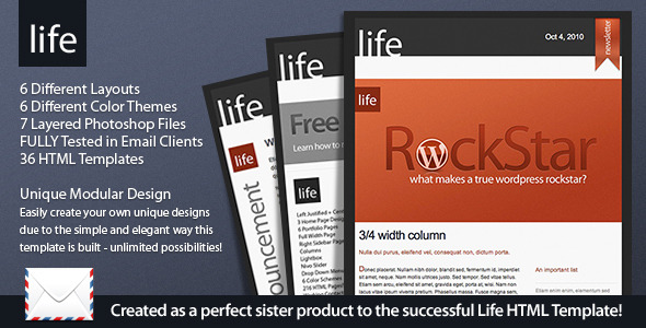 Life - HTML Email EmailTemplates Email Template