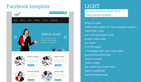 Light - Facebook Business High Resolution Template Corporate